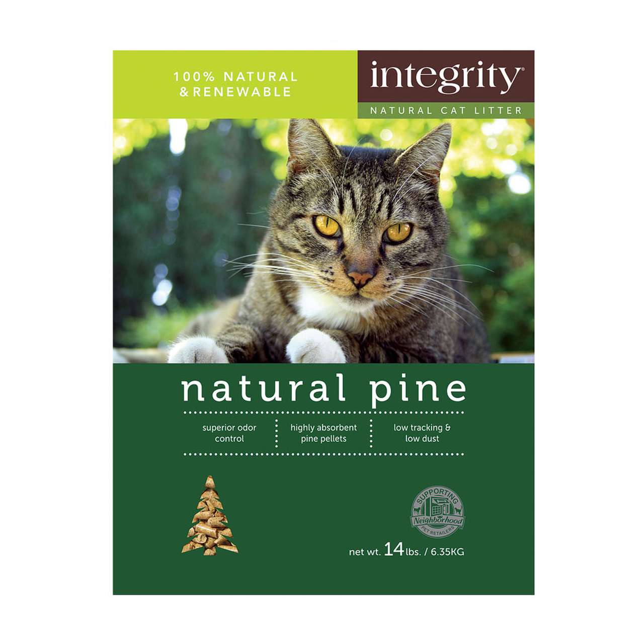 Integrity Natural Pine Cat Litter, 40-lb
