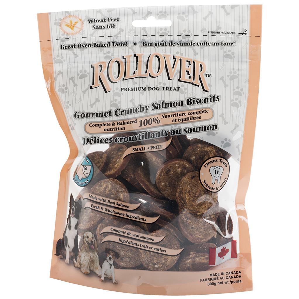 Rollover Premium Gourmet Crunchy Salmon Biscuits Dog Treats Image