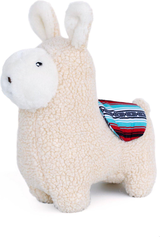ZippyPaws Storybook Snugglerz Plush Dog Toy, Liam the Llama