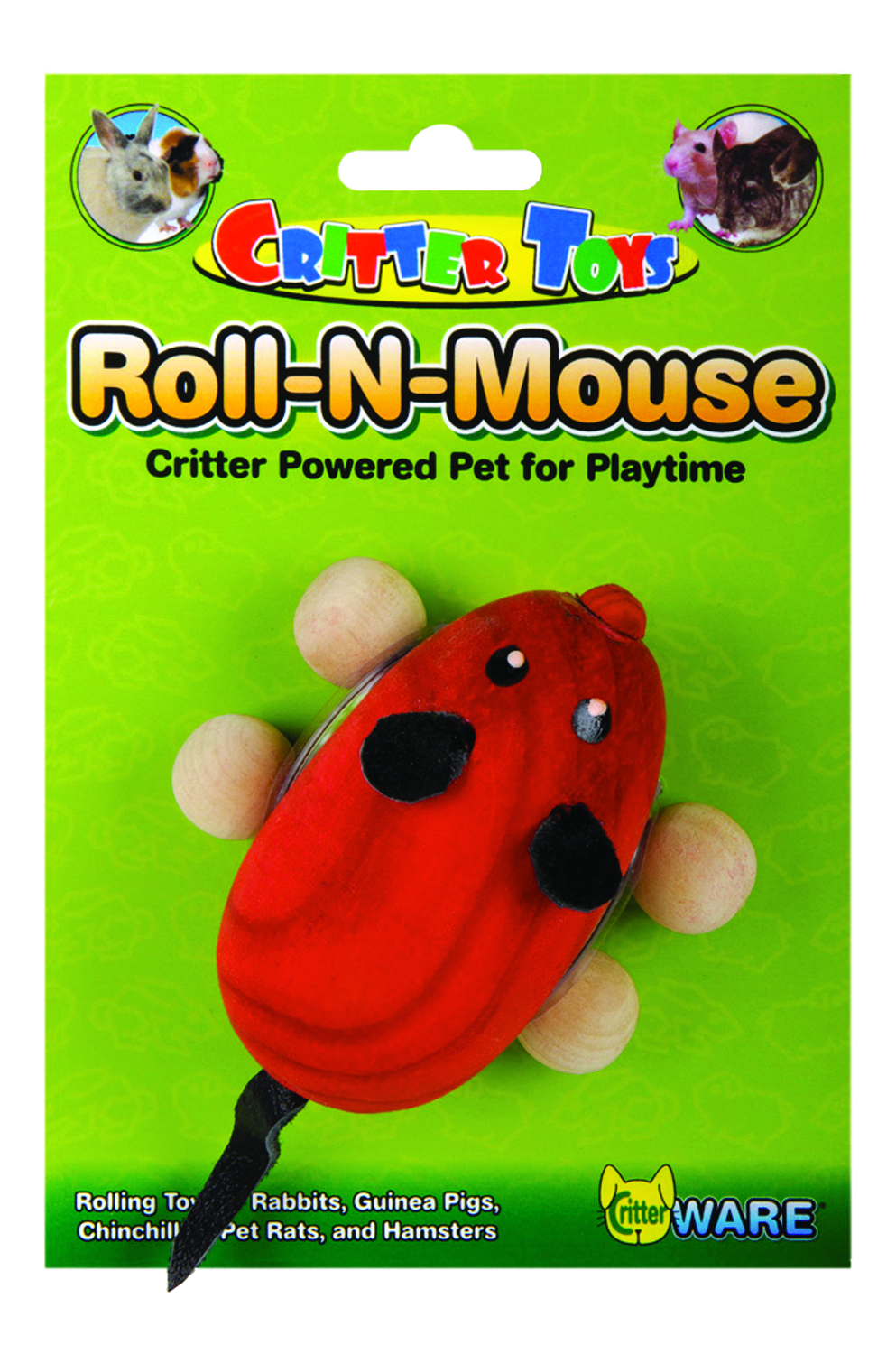 Ware Roll N' Mouse, Small Pet Wooden Chew Toy