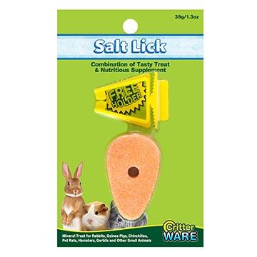 Ware Carrot Salt Lick with Holder, Small Pet Supplement