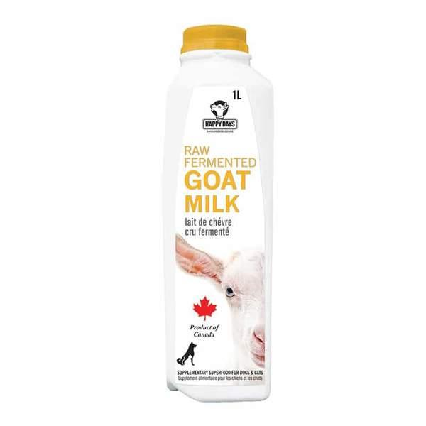 Happy Days Raw Fermented Goat Milk for Dogs & Cats, 1-L