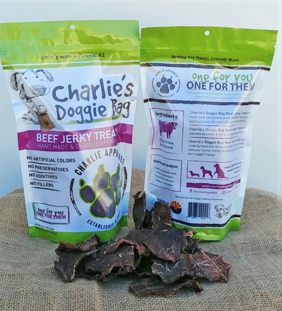 Charlie's Doggie Bag Beef Jerky Dog Treats, 5-oz