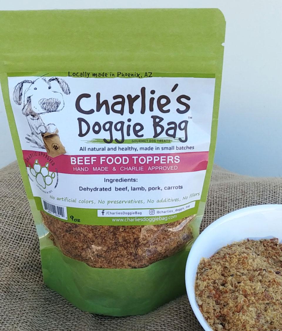 Charlie's Doggie Bag Beef, Pork & Lamb Dog Food Topper, 6-oz