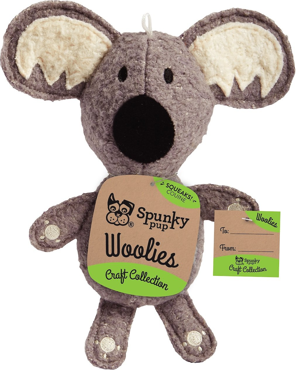 Spunky Pup Woolies Koala Dog Toy