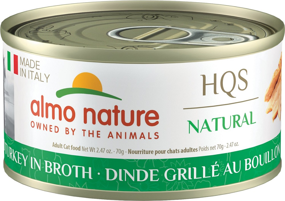 Almo Nature HQS Natural Made in Italy Grilled Turkey in Broth Adult Grain-Free Wet Cat Food, 2.47-oz