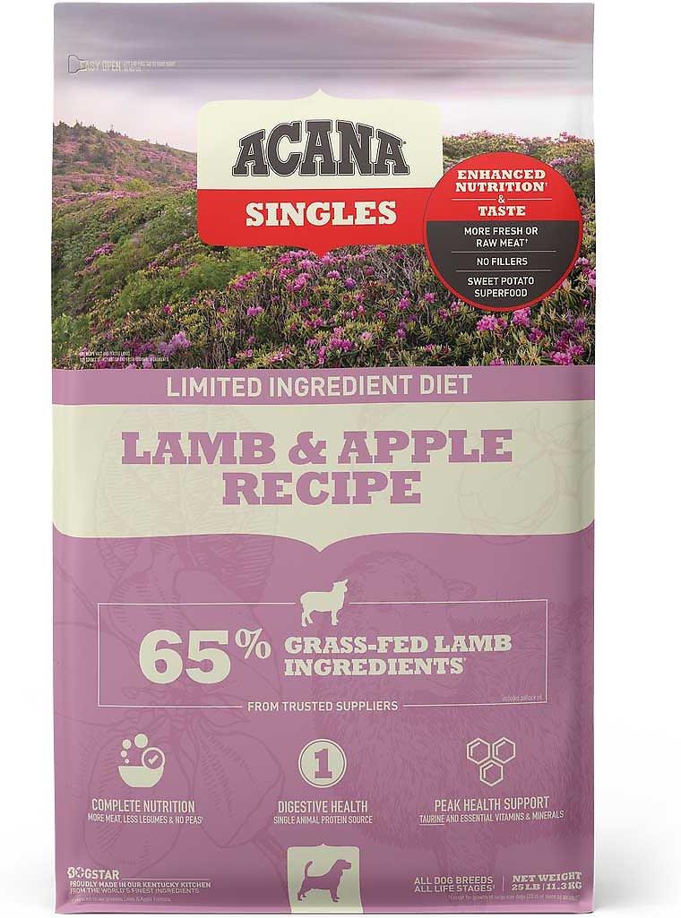 ACANA Singles Limited Ingredient Diet Lamb & Apple Recipe Dry Dog Food, 5.4-kg
