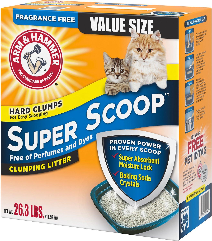 Arm & Hammer Litter Super Scoop Fragrance-Free Clumping Litter, 26.3-lb box