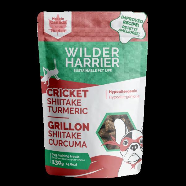 Wilder Harrier Cricket Shiitake Turmeric Hypo Training Dog Treats, 130-gm