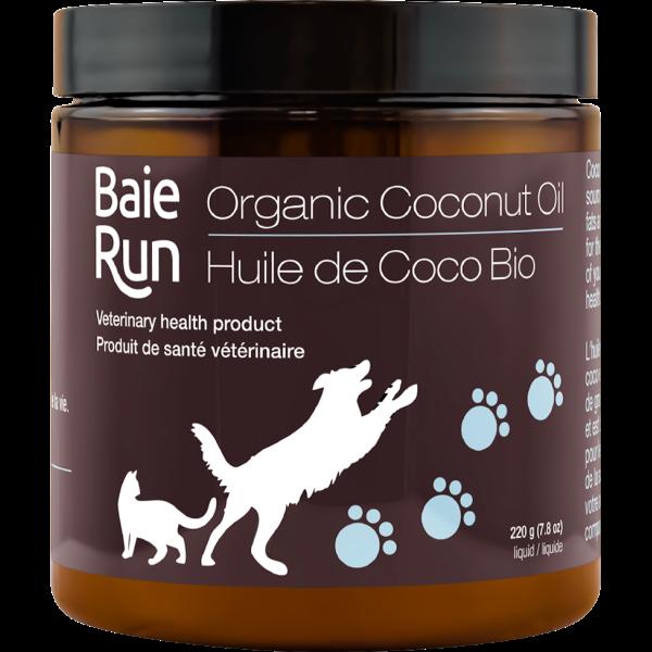 Baie Run Organic Coconut Oil Cat & Dog Supplement, 220-gram