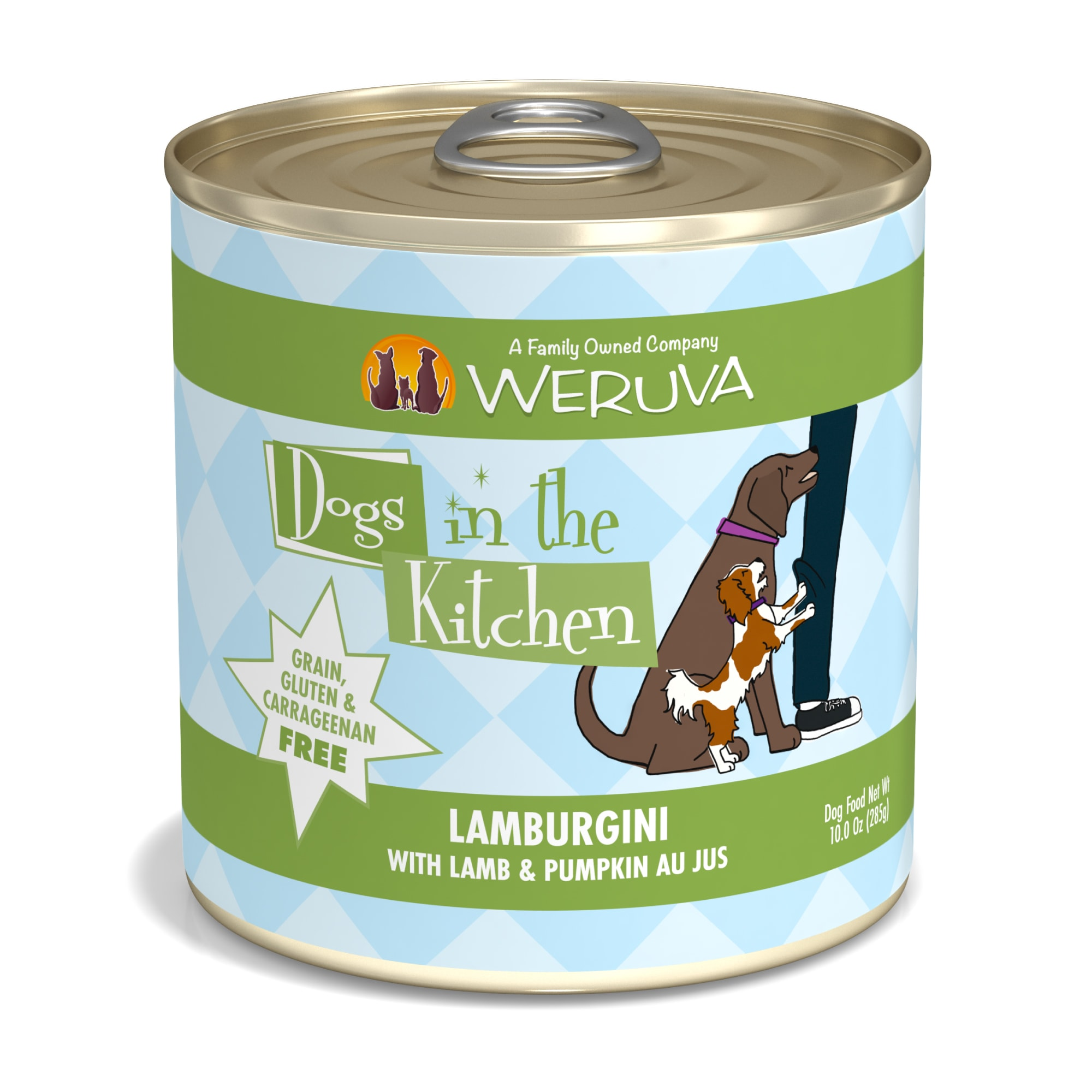 Weruva Dogs in the Kitchen Lamburgini with Lamb & Pumpkin Au Jus Grain-Free Wet Dog Food, 10-oz can