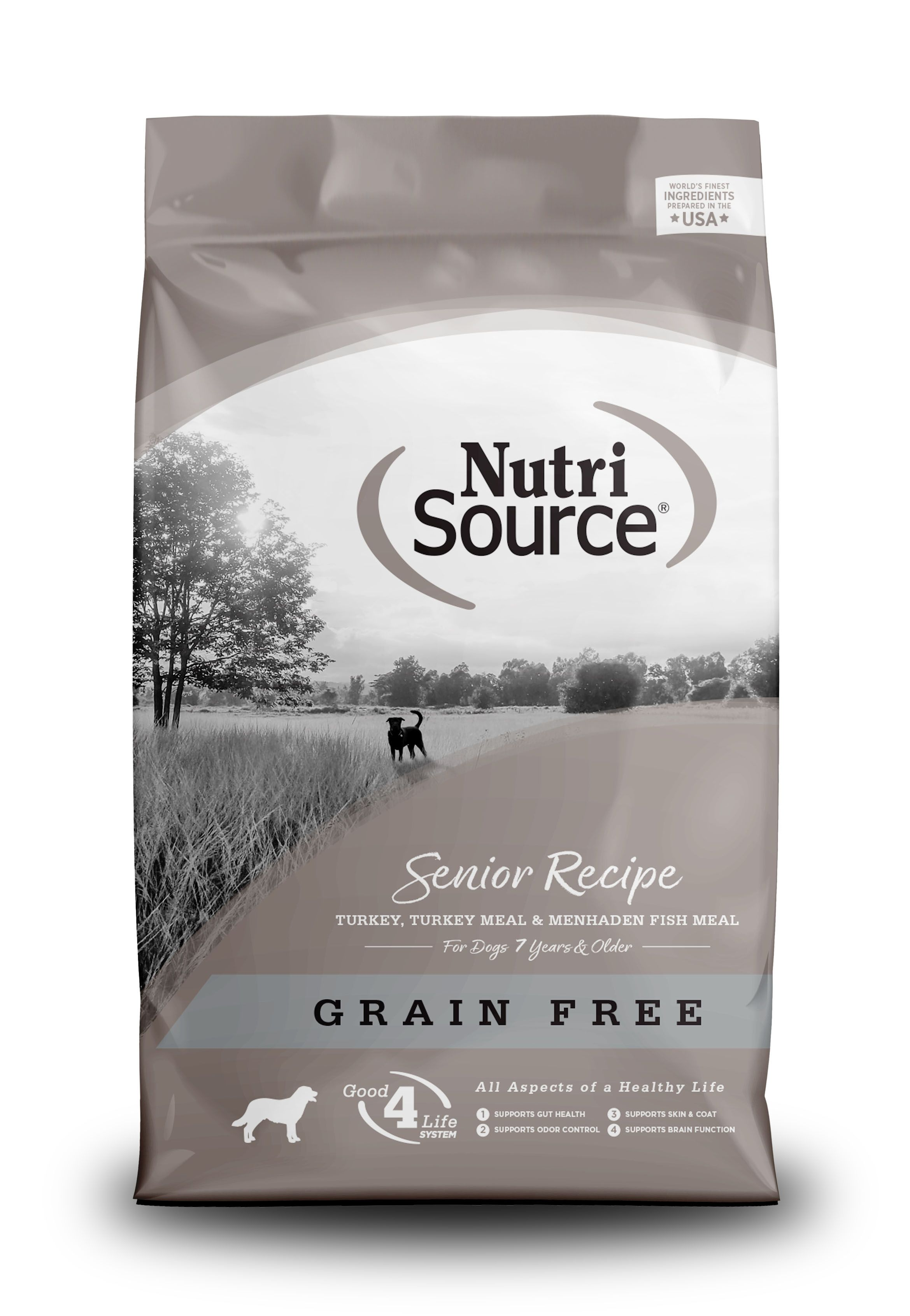 NutriSource Grain Free Senior Recipe Dry Dog Food Image