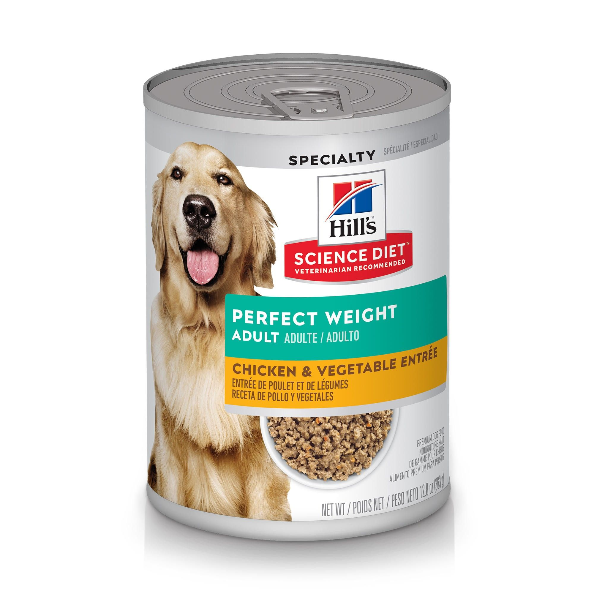 Hill's Science Diet Adult Perfect Weight Chicken & Vegetables Entree Canned Dog Food, 12.8-oz,