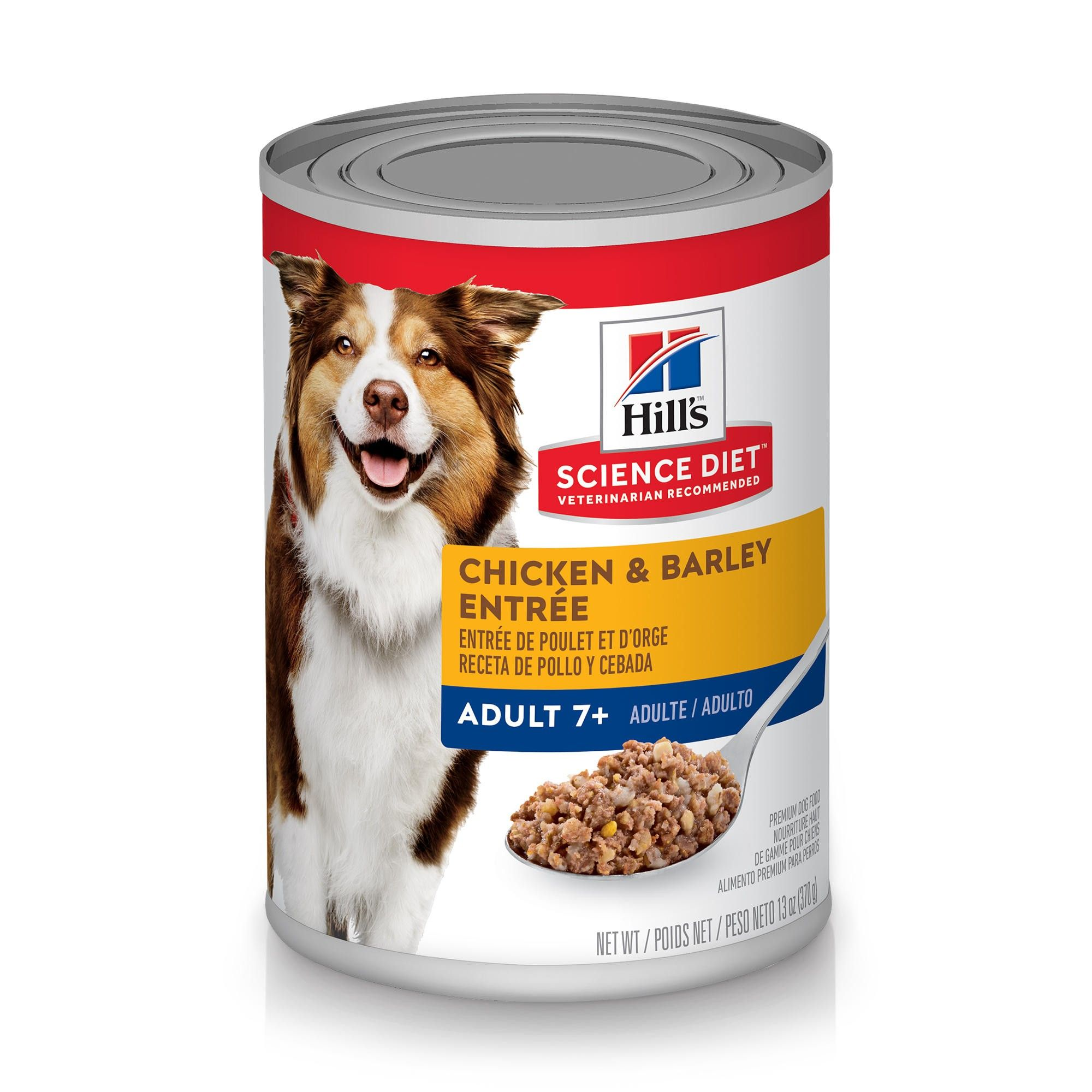Hill's Science Diet Adult 7+ Chicken & Barley Entree Canned Dog Food, 13-oz, case of 12