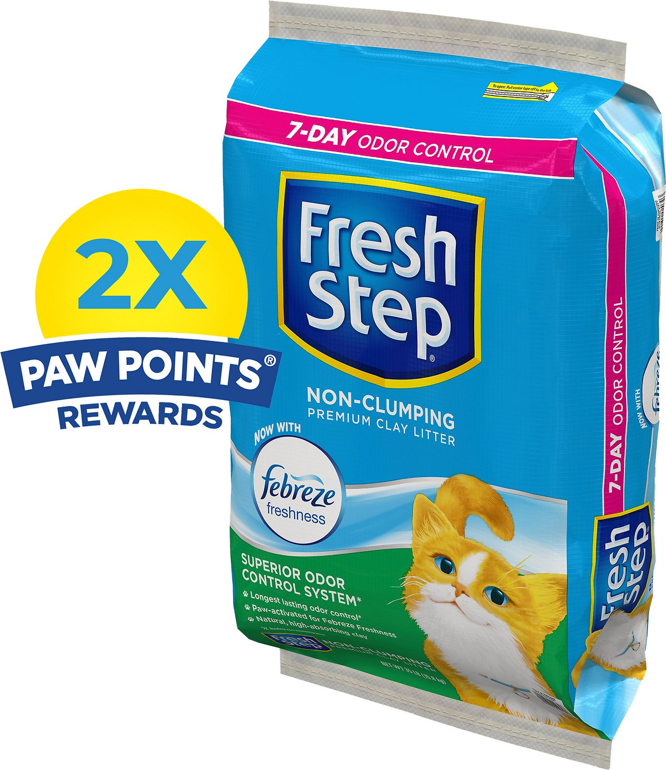 Fresh Step Scented Non-Clumping Clay Cat Litter with Febreeze, 35-lb bag
