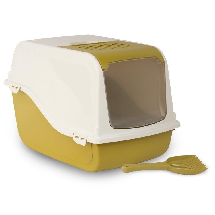Bergamo Litter Pan Ariel Top Free, Mustard Image