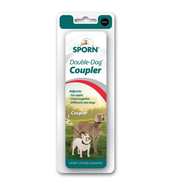 Sporn Double-Dog Dog Coupler, Black, X-Small/Small