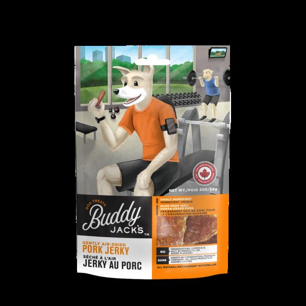 Buddy Jack's Pork Jerky Grain-Free Air-Dried Dog Treats, 56-gram