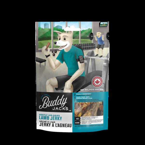 Buddy Jack's Lamb Jerky Grain-Free Air-Dried Dog Treats, 56-gram