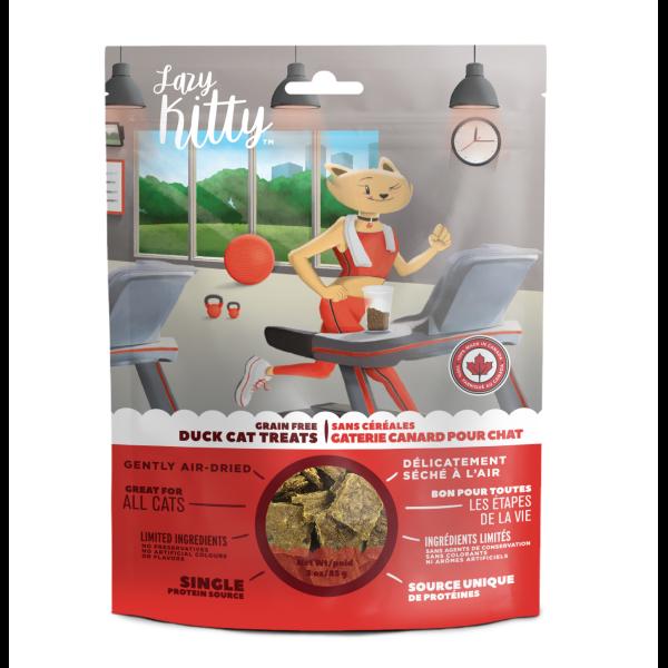 Lazy Kitty Catnip Delight Soft Treats Duck Grain-Free Cat Treats, 85-gm