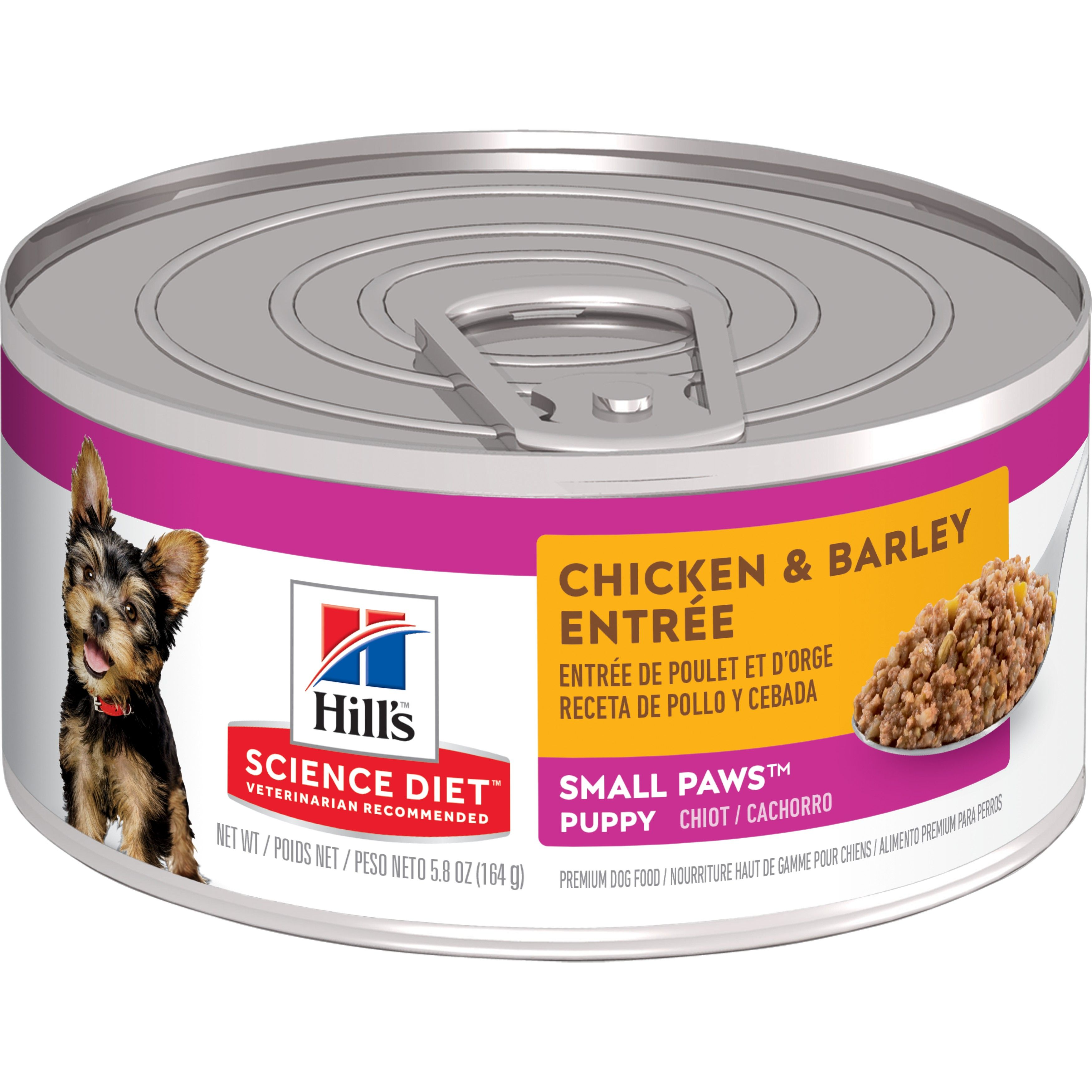 Hill's Science Diet Small & Toy Breed Chicken & Barley Entree Canned Dog Food, 5.8-oz