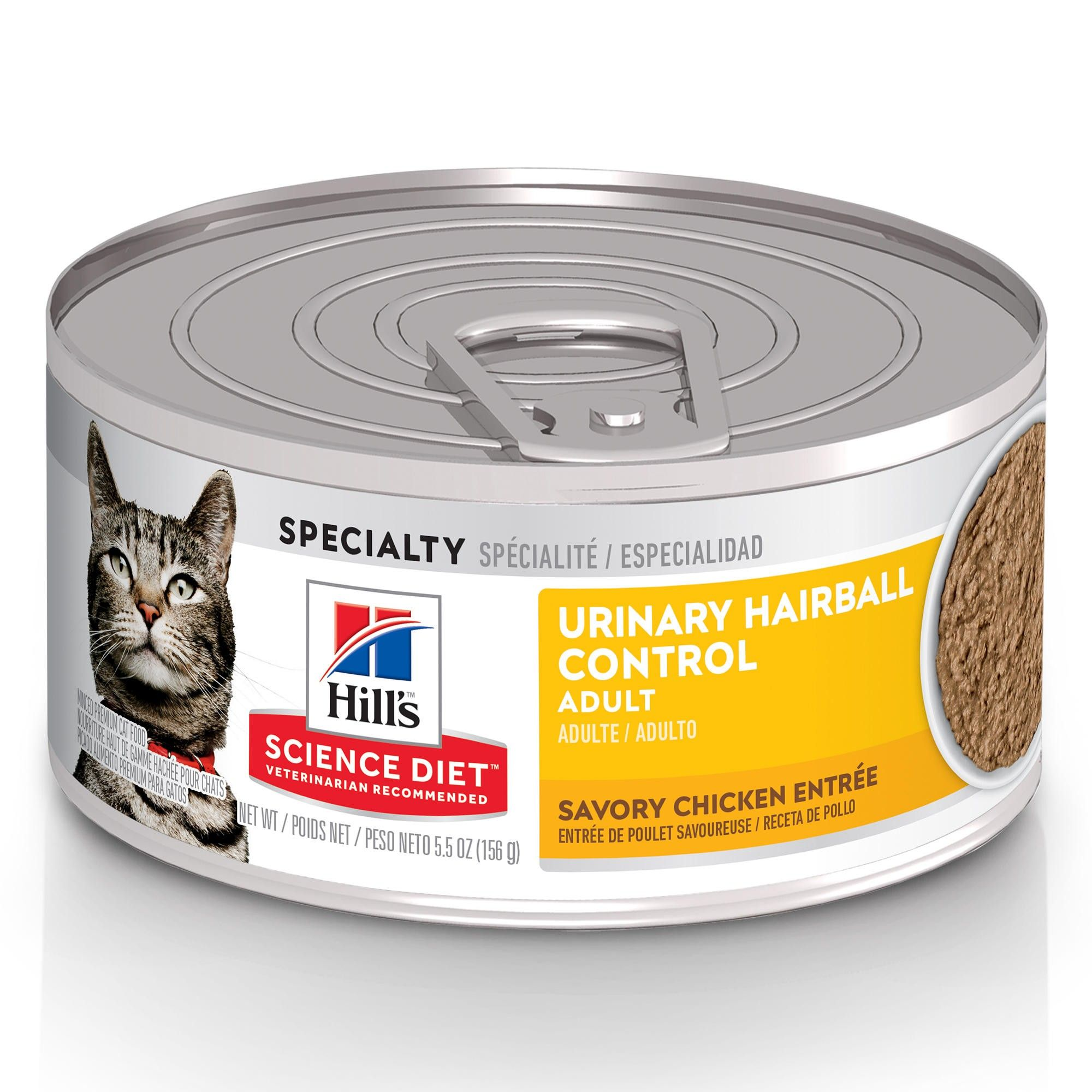 Hill's Science Diet Adult Urinary Hairball Control Chicken Entree Canned Cat Food, 5.5-oz