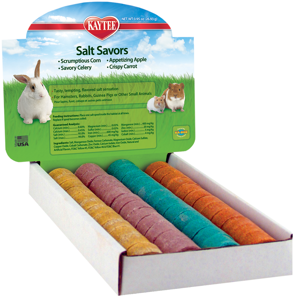 Kaytee Salt Savors Mini Small Animal Treats, 48-count