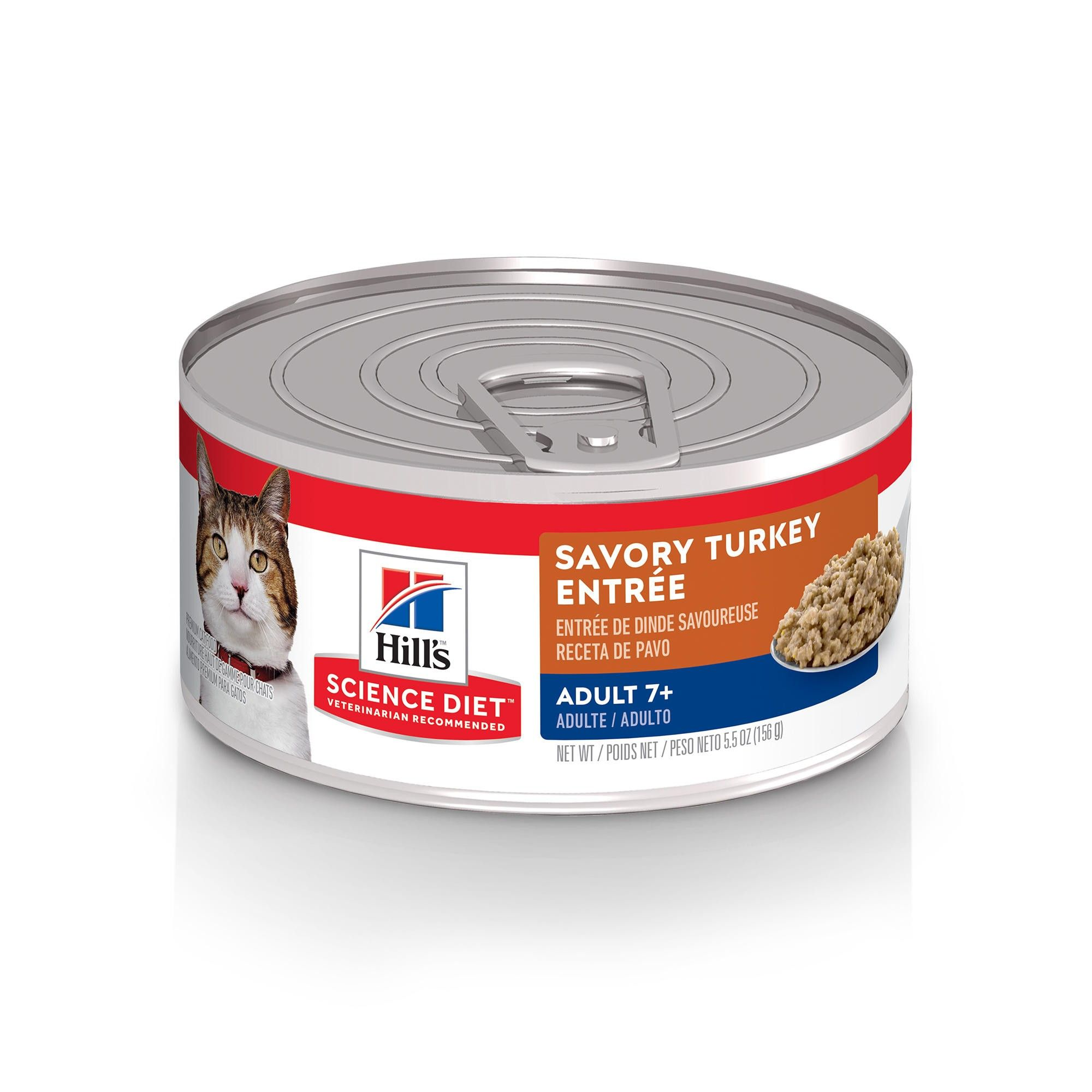 Hill's Science Diet Adult 7+ Savory Turkey Entree Canned Cat Food Image
