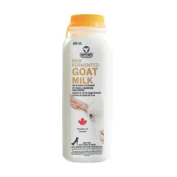 Happy Days Raw Fermented Goat Milk for Dogs & Cats, 490-mL