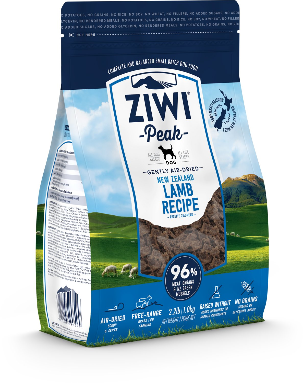 Ziwi Peak Dog Lamb Recipe Grain-Free Air-Dried Dog Food, 16-oz