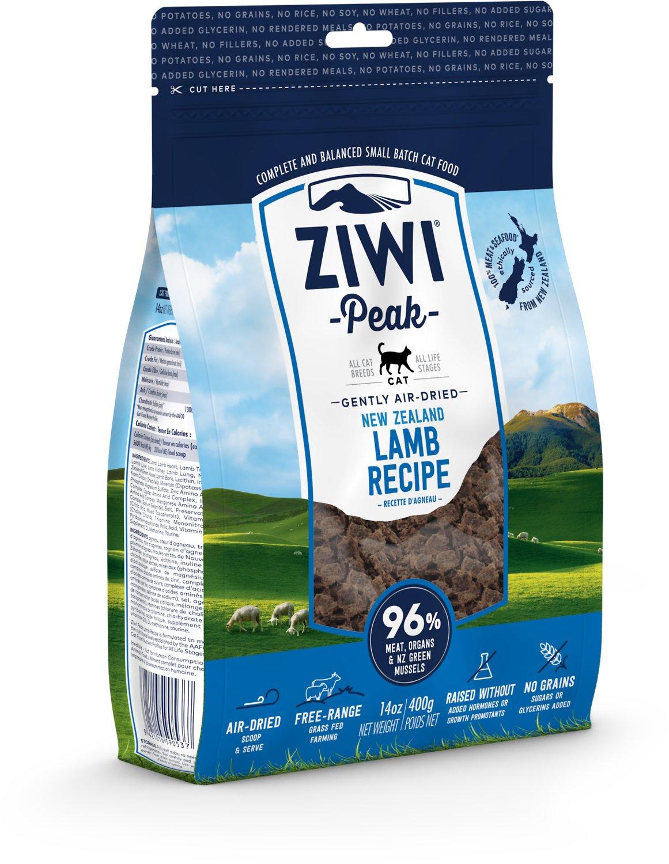 Ziwi Peak Cat Lamb Recipe Air-Dried Cat Food, 14-oz