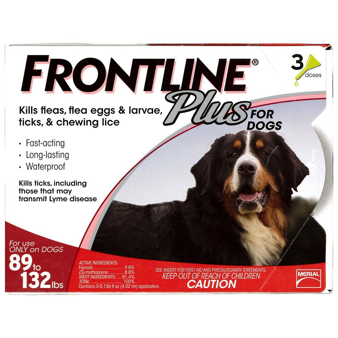 FRONTLINE Plus Flea & Tick Treatment for Dogs (89-132 pounds) Image