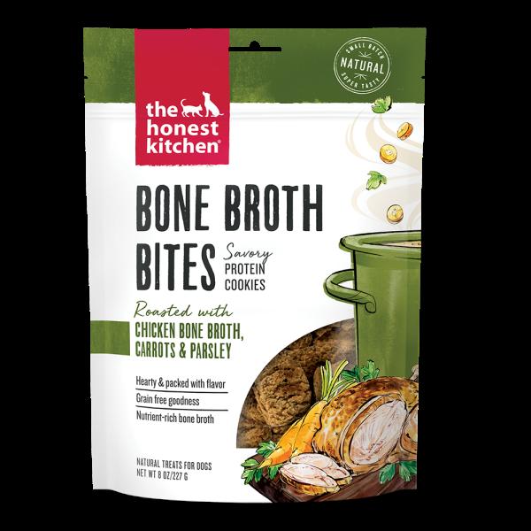 The Honest Kitchen Bone Broth Bites Chicken Dog Treats, 8-oz
