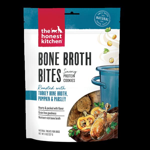 The Honest Kitchen Bone Broth Bites Turkey Dog Treats, 8-oz