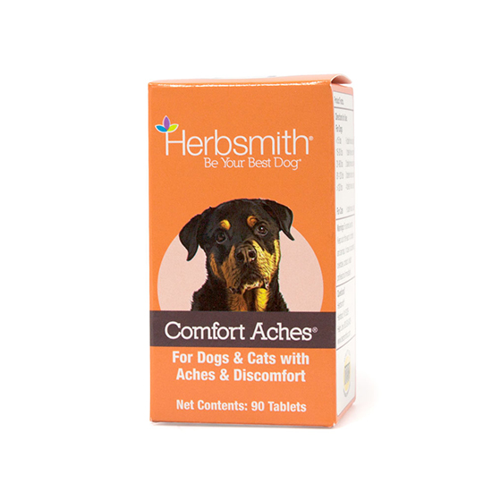 Herbsmith Herbal Blends Comfort Aches Tablets Dog & Cat Supplement, 90-ct