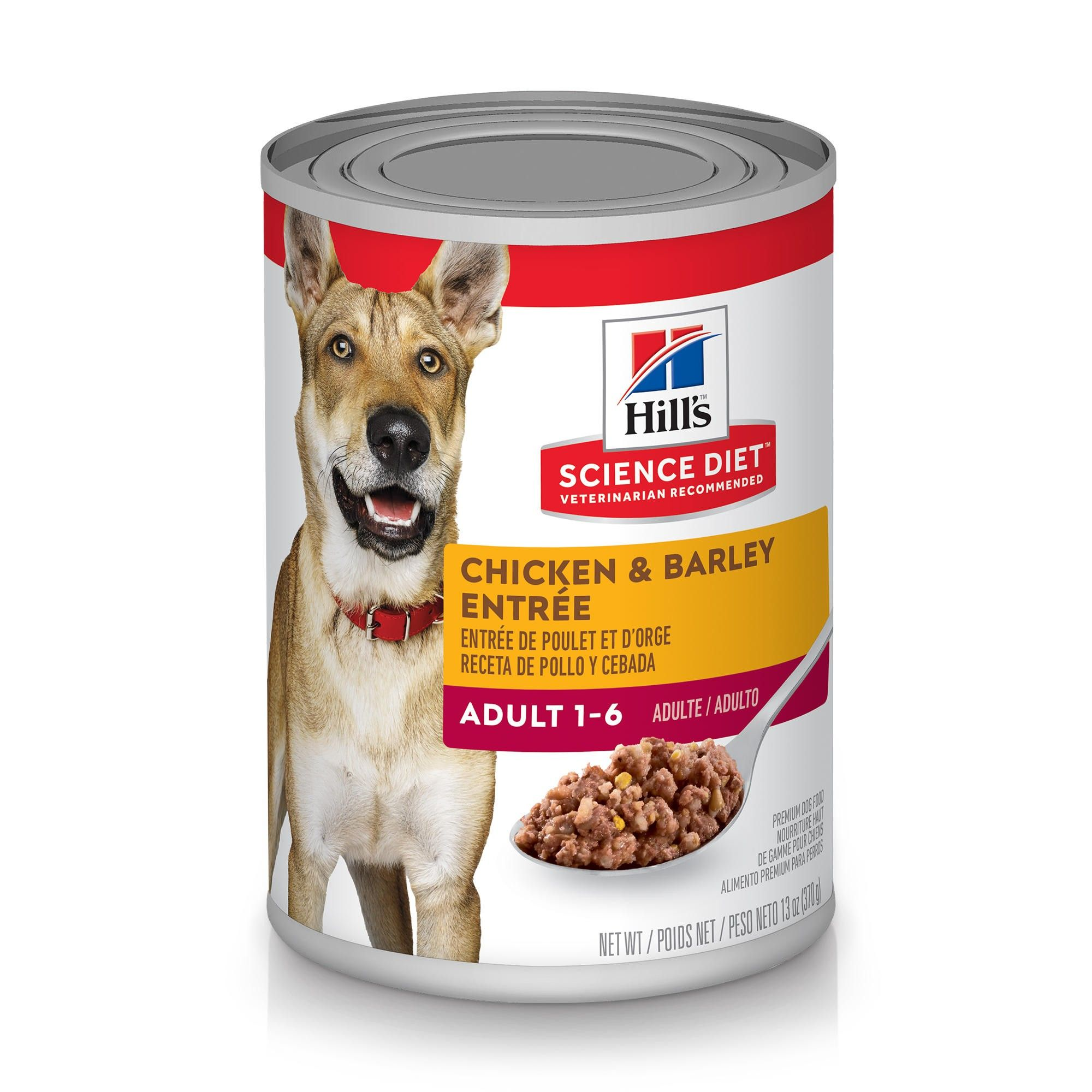 Hill's Science Diet Adult Chicken & Barley Entree Canned Dog Food Image
