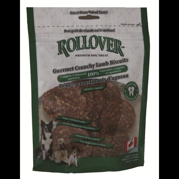 Rollover Premium Gourmet Crunchy Lamb Biscuits Dog Treats, Medium Image