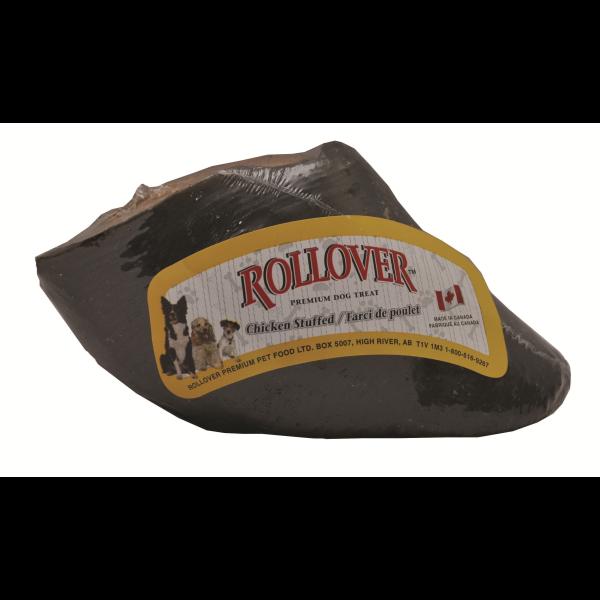 Rollover Premium Chicken Stuffed Beef Hooves Dog Treats, 2-pk