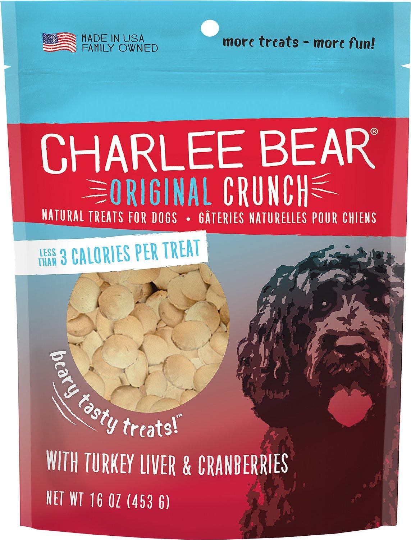 Charlee Bear Turkey Liver & Cranberries Dog Treats, 16-oz
