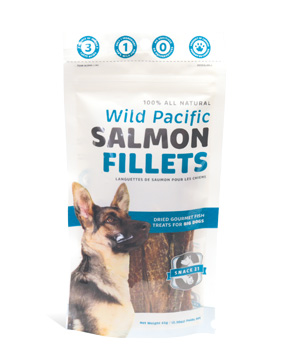 Snack 21 Salmon Fillets for Dogs, 2.30-oz