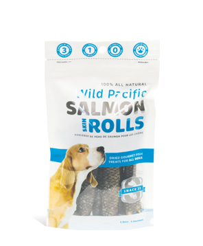 Snack 21 Salmon Skin Rolls for Dogs, 6-Pack