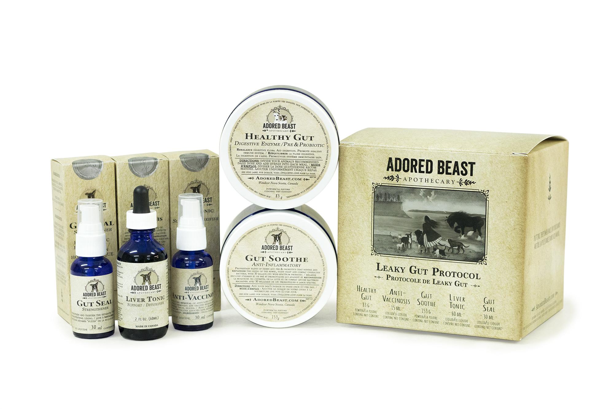 Adored Beast Leaky Gut Protocol (5 Protocol Kit)