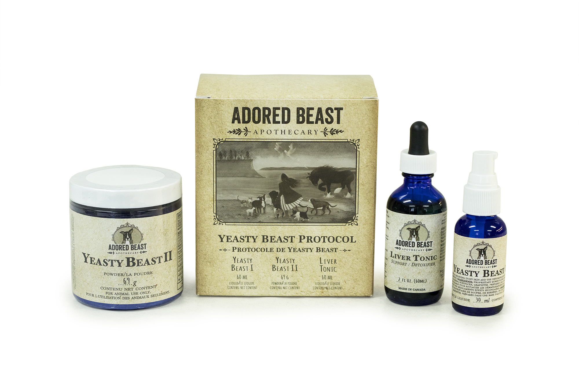 Adored Beast Yeasty Beast Protocol (3 Product Kit)