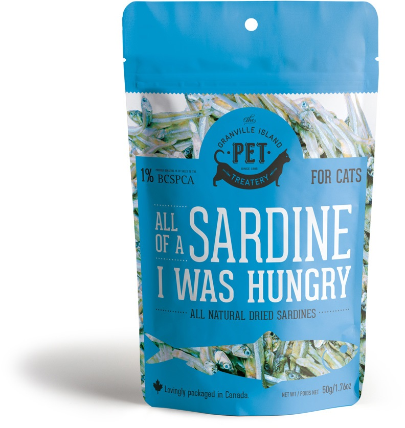 Granville Island Pet All of a Sardine I was Hungry Cat Treats, 1.76-oz