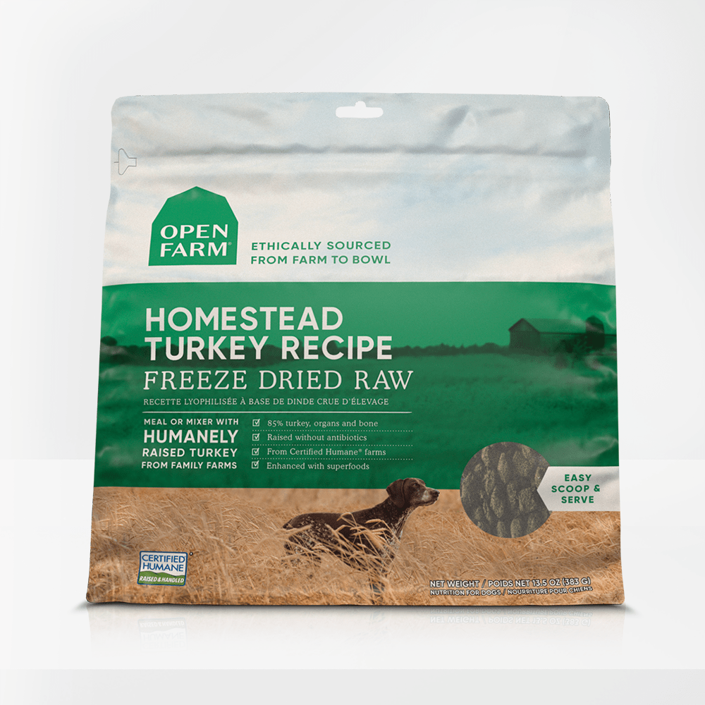 Open Farm Homestead Turkey Recipe Raw Freeze-Dried Dog Food, 13.5-oz (Size: 13.5-oz) Image