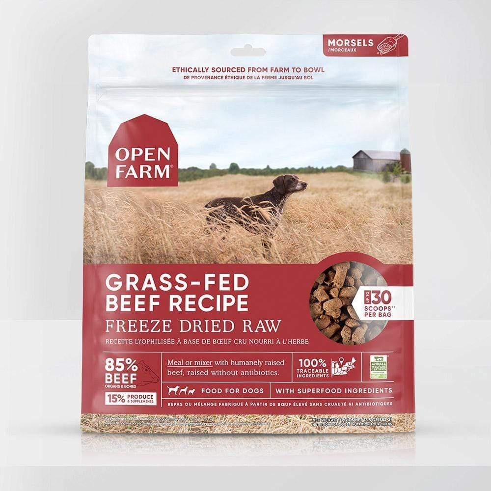 Open Farm Grass-Fed Beef Recipe Raw Freeze-Dried Dog Food, 13.5-oz