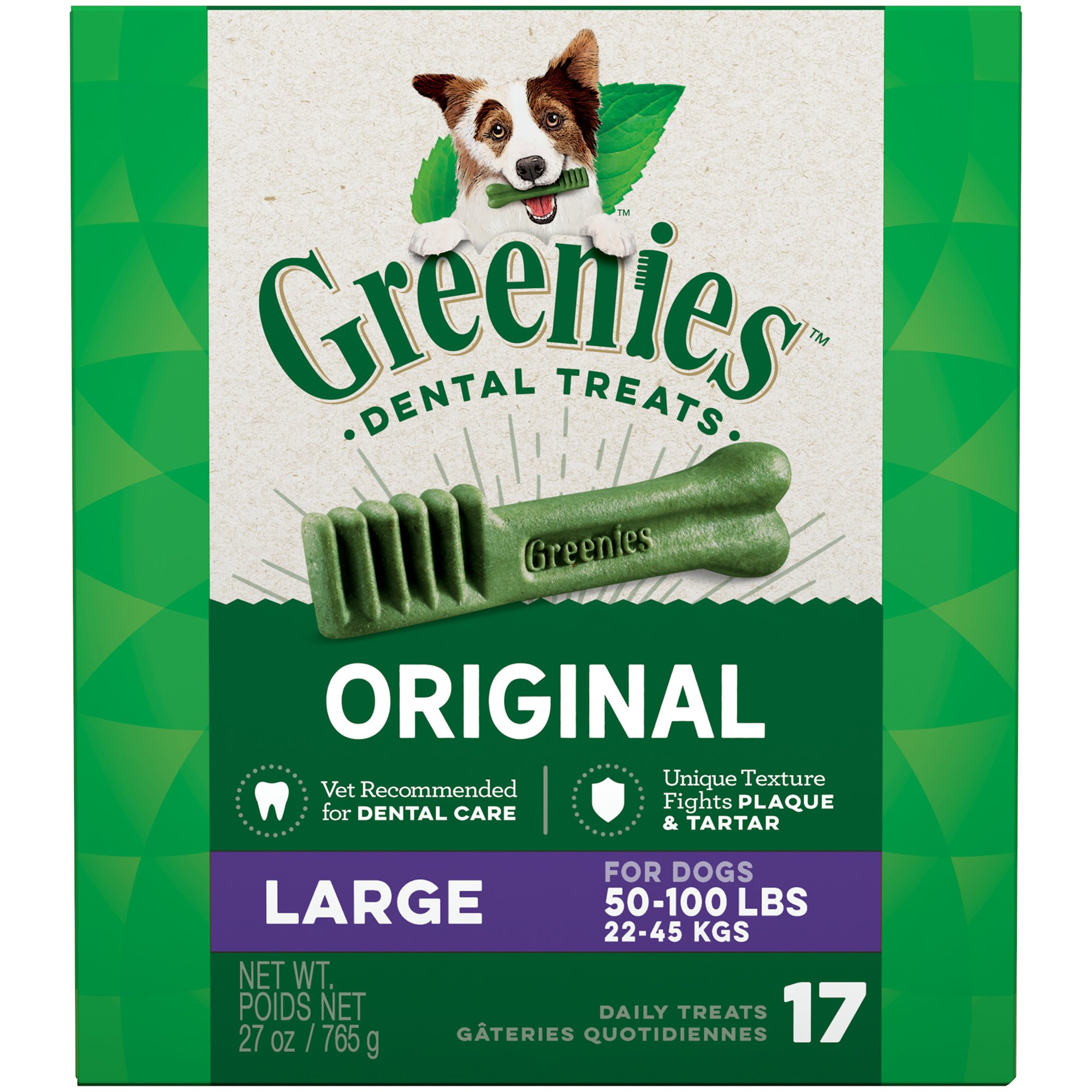 Greenies Original Large Dental Dog Treats, 17-count