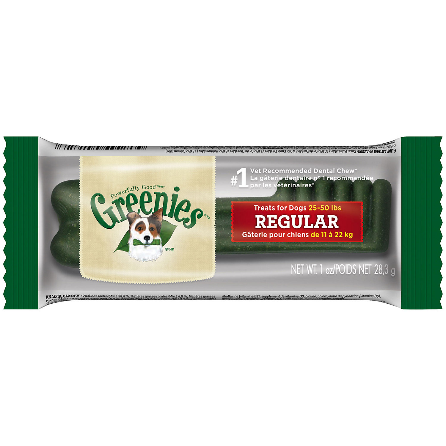 Greenies Original Regular Dental Dog Treats - Individually Wrapped, 1-count (Size: 1-count) Image