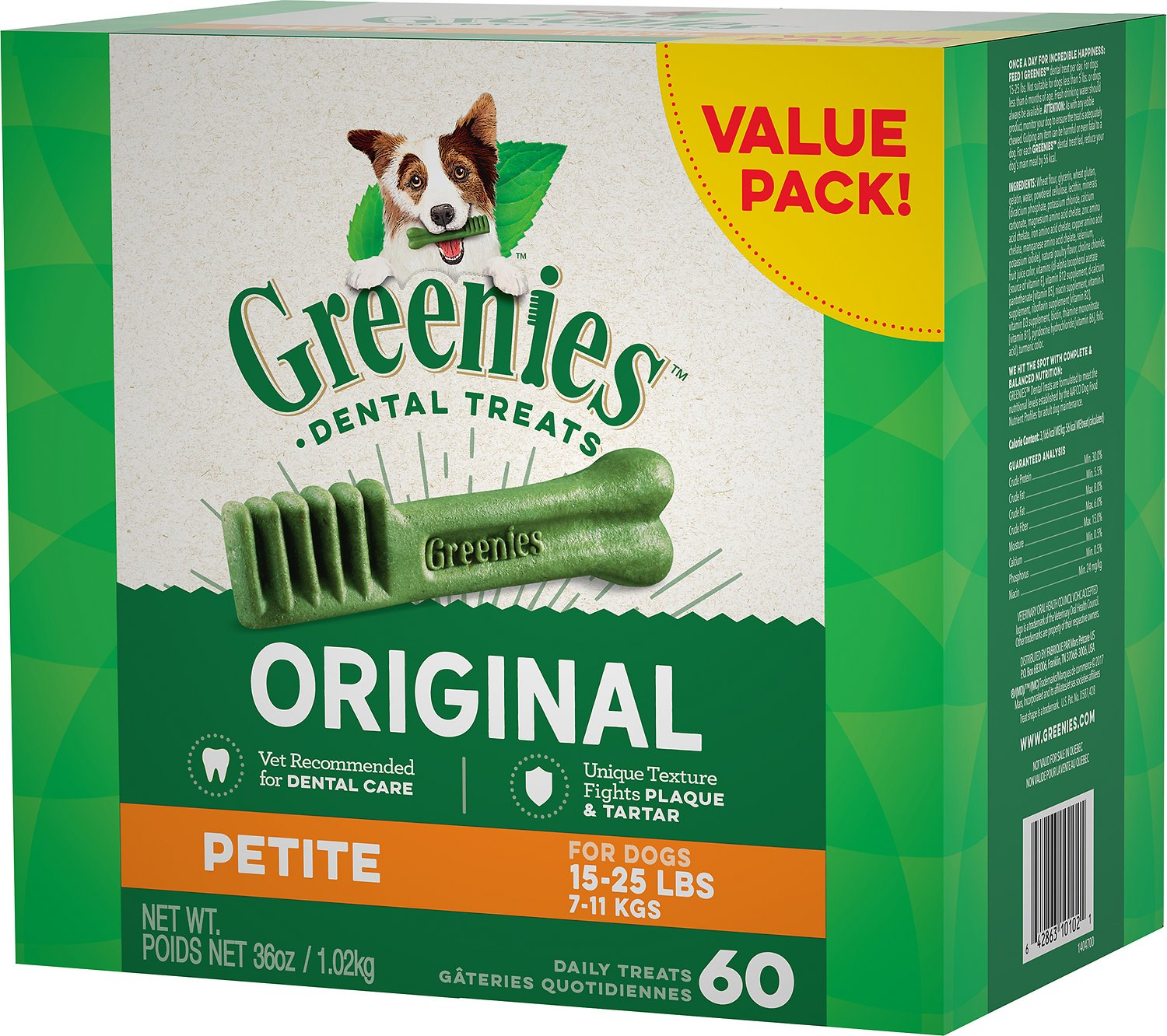 Greenies Original Petite Dental Dog Treats, 60-count (Size: 60-count) Image