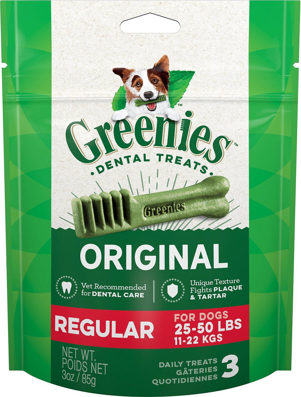 Greenies Original Regular Dental Dog Treats, 3-count